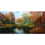 手作りの風景現代の壁アートキャンバスの複製油絵