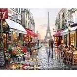 Chenistory Paris Street DIY живопись по номерам с рамкой ручная роспись холст картина