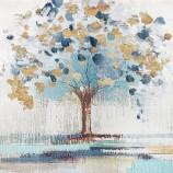 キャンバスアート。金のリンゴの木家の装飾のための油絵。Ol-200701サイズ36x36インチ