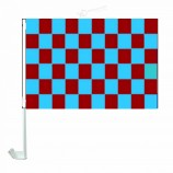 гоночный спортивный флаг красный синий шашка автомобильный флаг