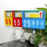 スーパーマーケットのシーフード用クリップ付きプラスチック価格サインフレームボード