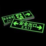 светящаяся алюминиевая акриловая табличка безопасности аварийного выхода