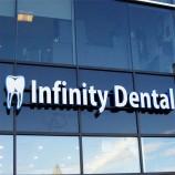 치과 의사의 이름 광고 아크릴 간판 채널 편지 간판