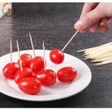 도매 일회용 더블 뾰족한 대나무 이쑤시개 과일 선택 이쑤시개