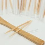 Рекламные экологически чистые зубочистки для стоматологической щетки в бутылочной бамбуковой шпажке