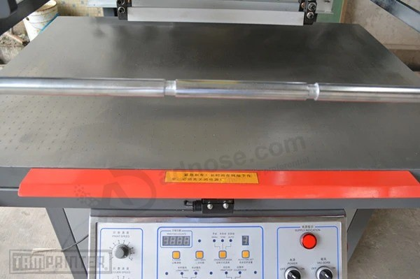 High Precision Oblique Arm Clamshell Screen Printing Machine