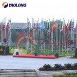 6 Meter Olympic Games Decoration Stainless Steel Pole for Flag Hoisting