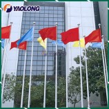 Lightweight Aluminum Flag Pole with Internal Halyard for Olympic Village