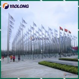 Custom 304L Stainless Steel Flagpole with Special Design for Youth Olympic Games