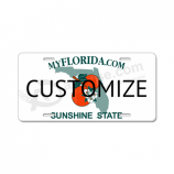 Custom high quality vanity license plates made of durable plastic with your logo