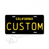 Custom personalized vanity license plates made of durable plastic with your logo