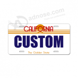Custom personalized car license plate made of durable plastic with your logo for sale