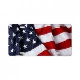 Custom high-end American flag durable plastic license plates for sale