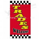 Factory wholesale custom logo printed RSF325 Flat Top Flag with your logo