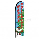 Wholesale Colourful flying christmas flags feather flag for advertising christmas decorations with your logo