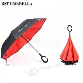 88c2751c0 Promotional wholesale new design strong windproof parasol upside down  inverted umbrellas with custom logo print