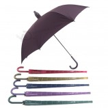 Wholesale high quality J shape handle online shopping india umbrella waterproof umbrella with plastic cover