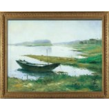 S600 80x60cm Boat in the Lake Scenery Oil Painting Wall Art Painting