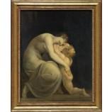 H535 56x71cm Home Decor Figure Canvas Oil Painting On Sale