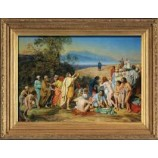 J554 211x147cm Wall Art Figure Oil Painting for Hotel
