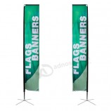 Outdoor Straight Rectangular Flags And Banners Polyester Beach Flag For Promotional Advertising Exhibition Event