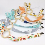 Baby Accessories Cotton Bunny Ear Metal Pacifier Clip Baby Pacifier Clip Holder