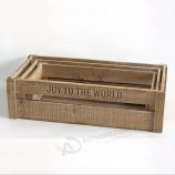Wood Nesting Boxes Storage Crates wooden milk crates