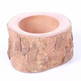 Wholesale Country Style Wooden Tea Light Candle Tin