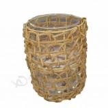 Bougeoir en bois décor artisanal yufeng
