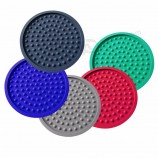 factory custom wholesale rubber soft pvc silicone cup coaster