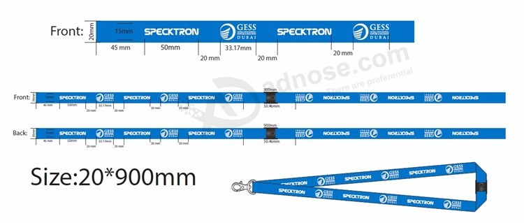 Neck Lanyards with Retractable Reeler for ID Card Holder